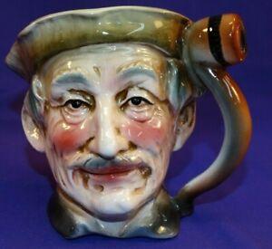 Old Man Vintage Japanese Porcelain Character Mug