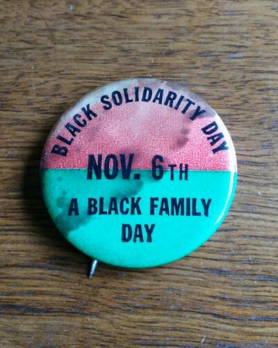 Vintage 1969 Black Solidarity Pin Button Civil Rights History Brooklyn College