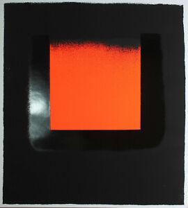 Rupprecht Geiger-arancione su nero. unsignierter serigrafia 65,5 x 59,5