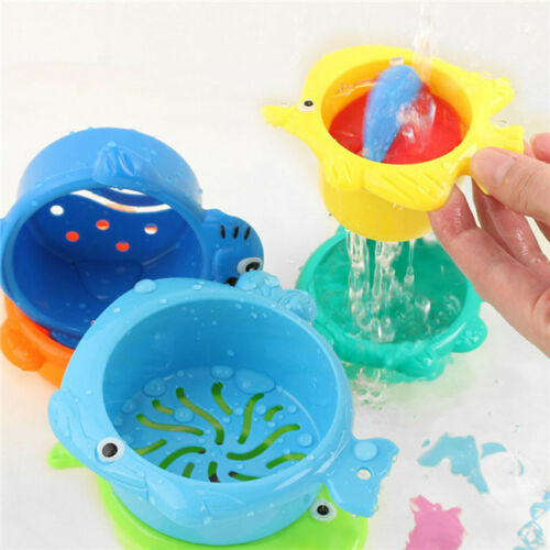 Stacking Cups Early Educational Toddlers Toy Baby Bath Toys Set Bathtub T3