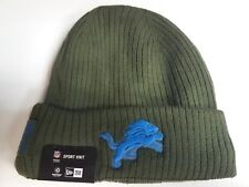 Detroit Lions New Era Knit Hat 2018 Salute to Service Green Stocking Cap 04cbc504f