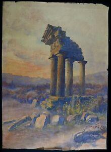 Georges-Bisson-XIX-Tempel-Von-Castor-und-Pollux-Dioskuren-Agrigento-Sicily-ROM