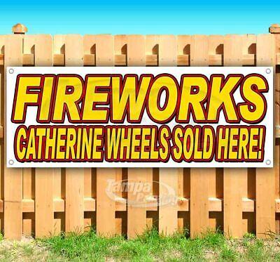 Fireworks Catherine Wheels Pr 13 oz Banner Heavy-Duty Vinyl Single-Sided with Metal Grommets