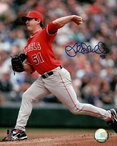 Joe-Saunders-Signed-8X10-Photo-Autograph-Anaheim-Angels-Road-Blue-Ink-Auto-COA