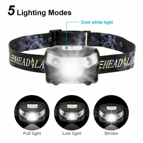 USB Rechargeable LED Head Torch Headlight Lamp CE Camping Induction Headlamp