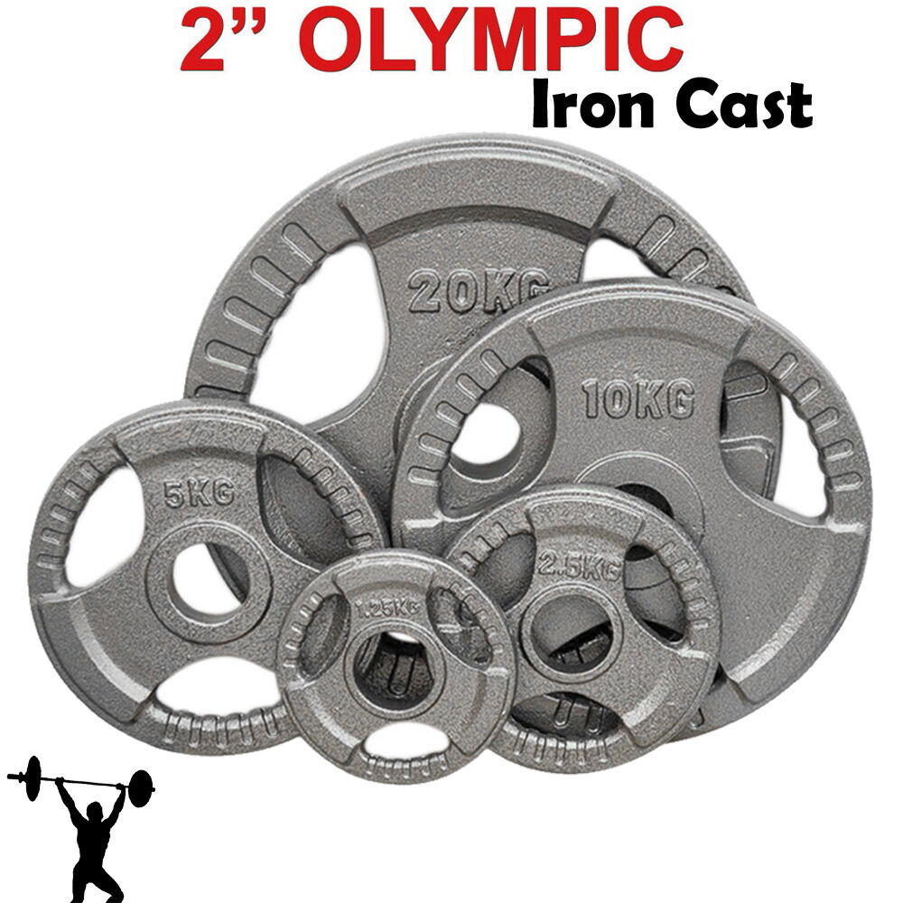 Iron Cast 2   Olympic Disc Weight Plates EZ Bar Barbell Bodypower Gym Fitness Tri  save 35% - 70% off