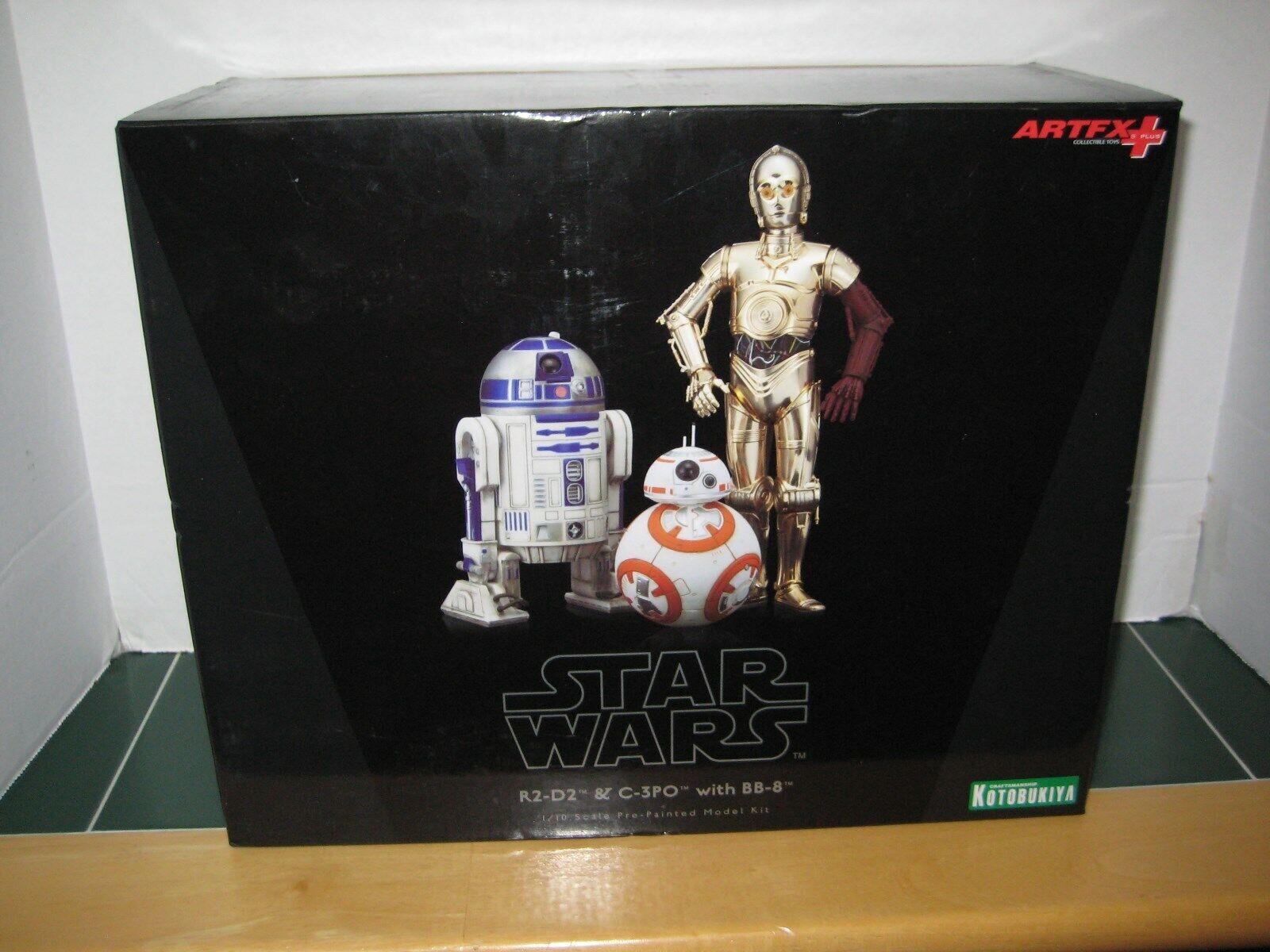 Seleccione de las marcas más nuevas como Estrella Wars R2-D2 y C-3PO C-3PO C-3PO con BB-8 Kotobukiya 1 10 Escala Modelo Kit pre-pintado  100% a estrenar con calidad original.