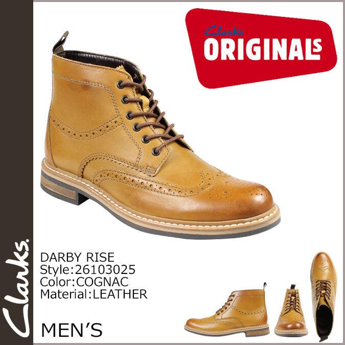 Clarks Herren Darby Darby Darby gehoben Trendy Brogues Cognac UK 7 / True 7.5 eff2cd