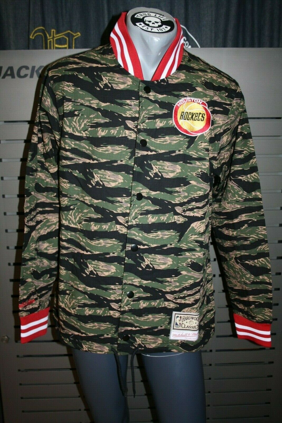 Mitchell And Ness Tiger Camo Jacket Houston Rockets New Camouflage