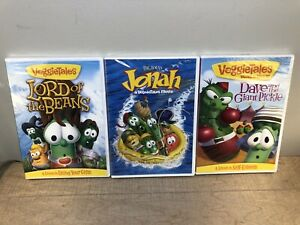 Lot-Of-3-VeggieTales-DVD-Lord-of-the-Beans-Jonah-Movie-Dave-amp-Giant-Pickle