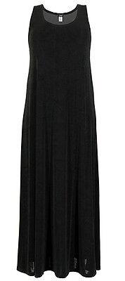 Jostar Acetate Stretchy Travel Knit Tank Dress Black ~ 3X