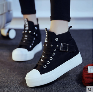 c693665eb18 Image is loading 2019-Casual-canvas-Sneakers-shoes-Fashion-Korean-Women-
