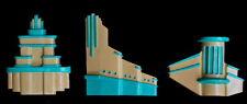 Beautiful Art Deco Architecture1930's Cinema  Wall Plaques x3 Vintage Retro