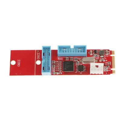Magideal 2 Port 19Pin USB3.0 NGFF M.2 B M Key Board Adapter Card Converter
