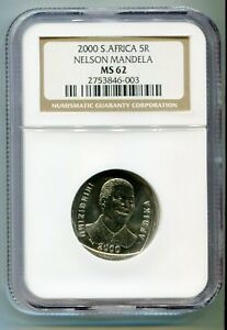 South-Africa-Year-2000-5R-Nelson-Mandela-R5-Smiley-Madiba-Coin-NGC-MS-62