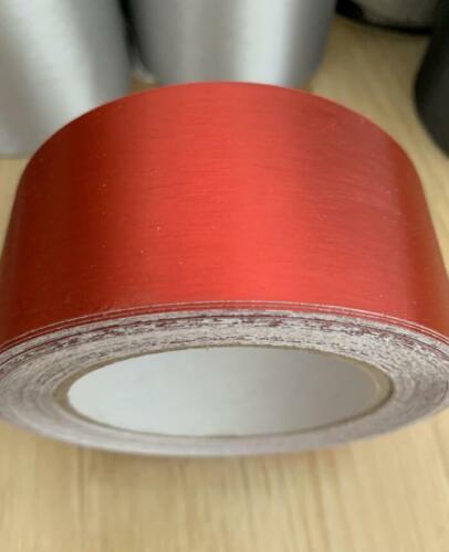 Metallic Matt Brushed Aluminum Vinyl Tape Adhesive Wrap Film Foil Sticker Sheet