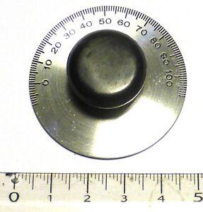 Bouton-rond-avec-plaque-vernier-pour-Tuner-TU-de-BC610-axe-6-3-mm-NOS-NIB