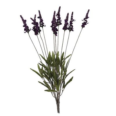 Intellective Cespuglio Di Lavanda Di Plastica Viola 52cm Lungo Bouquet Da Sposa Ufficio Casa