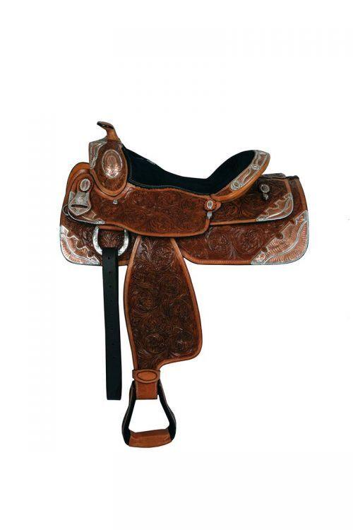 16  Double T fully tooled show saddle