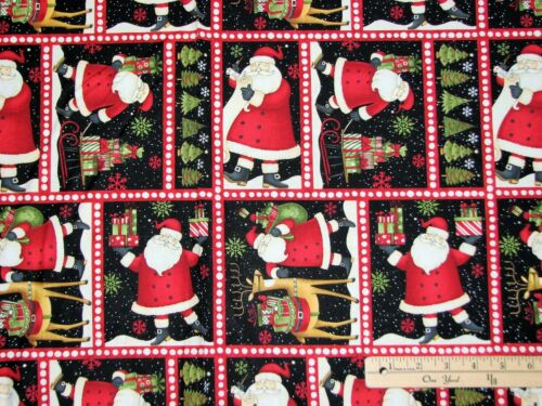 "Santa/'s Gifts Sm Blocks Debbie Mumm Christmas Fabric 23/""   #67490"