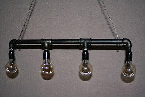 Industrie-Retro-Kronleuchter-Deckenlampen-Vintage-Loft-Pipe-Edison-Lampe-Leucht