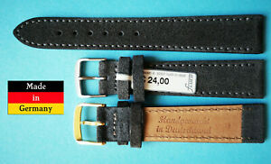 Velour-Uhrband-fuer-Nomos-18-20mm-dunkelgrau-weich-Made-in-Germany