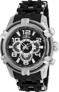 wachawant-Invicta-25553-Bolt-51mm-Quartz-Stainless-Steel-Black-Dial-Men-039-s-Watch
