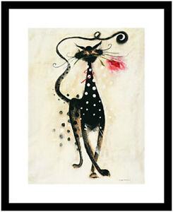Marilyn Robertson Jasper die Katze Poster Kunstdruck Bild mit Alu Rahmen 50x40cm