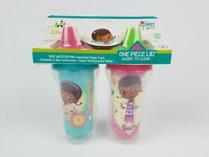 Details about The First Years Disney Doc Mcstuffins Insulated Sippy Cup 9 Oz Baby Cups 2pk
