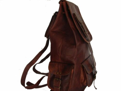 "New VH 18/"" Original Leather Back Pack Rucksack Travel Bag For Men/'s and Women/'s"
