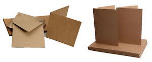 Pacco-50-Kraft-Bianco-Carte-amp-Buste-280gsm-Brown-riciclata-4-taglie-disponibili