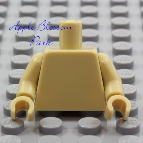NEW Lego Girl//Boy Minifig Plain TAN TORSO Star Wars Ewok Blank Body Upper Hands