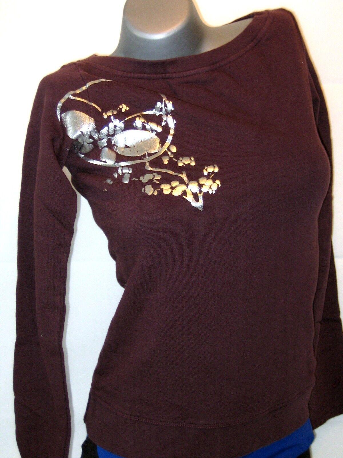 ASICS Women's Sweatshirt Size S Brown  NEW Idoru Sweatshirt  factory outlet