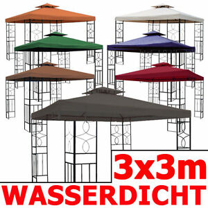 pavillon 08 wasserdicht 3x3 metall festzelt wasserfest ersatzdach pavillion neu ebay. Black Bedroom Furniture Sets. Home Design Ideas