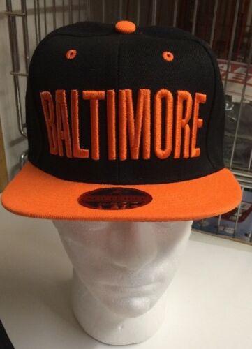 Baltimore  Black And Orange Snapback Baseball Hat 2015