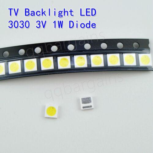 TV Backlight LED Diode SMD 3030 3V 1W Cool White LED 10PCS TLC LG INSIGNIA Yi