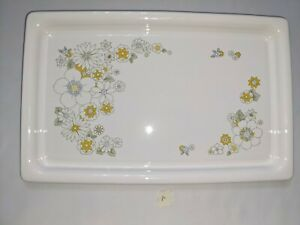 Corning Ware Floral Bouquet Pattern Broil Bake Tray Discontinued Pattern P 35 B Ebay