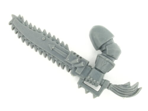 left 5x Chaos Space Marines Chain Sword A *BITS*