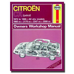 haynes manual citroen cx petrol 75 88 car workshop repair book rh ebay com Haynes Repair Manual Online View Haynes Repair Manuals Mazda