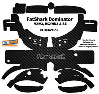 Fat Shark Dominator V2 V3 Hd2 Hd3 Skin Wrap Decal Fatshark Goggle Carbon Fiber