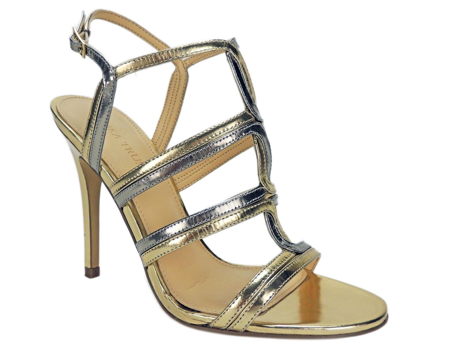 Ivanka Trump Wohombres Hazen Strappy Sandals oro Leather Talla 7.5 M