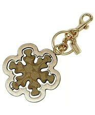 Coach Spinning Snowflake Bag Charm in Signature Canvas C1754