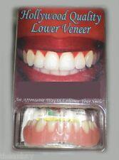 SECURE INSTANT SMILE False Fake Cosmetic Dentures Veneer Costume LOWER TEETH