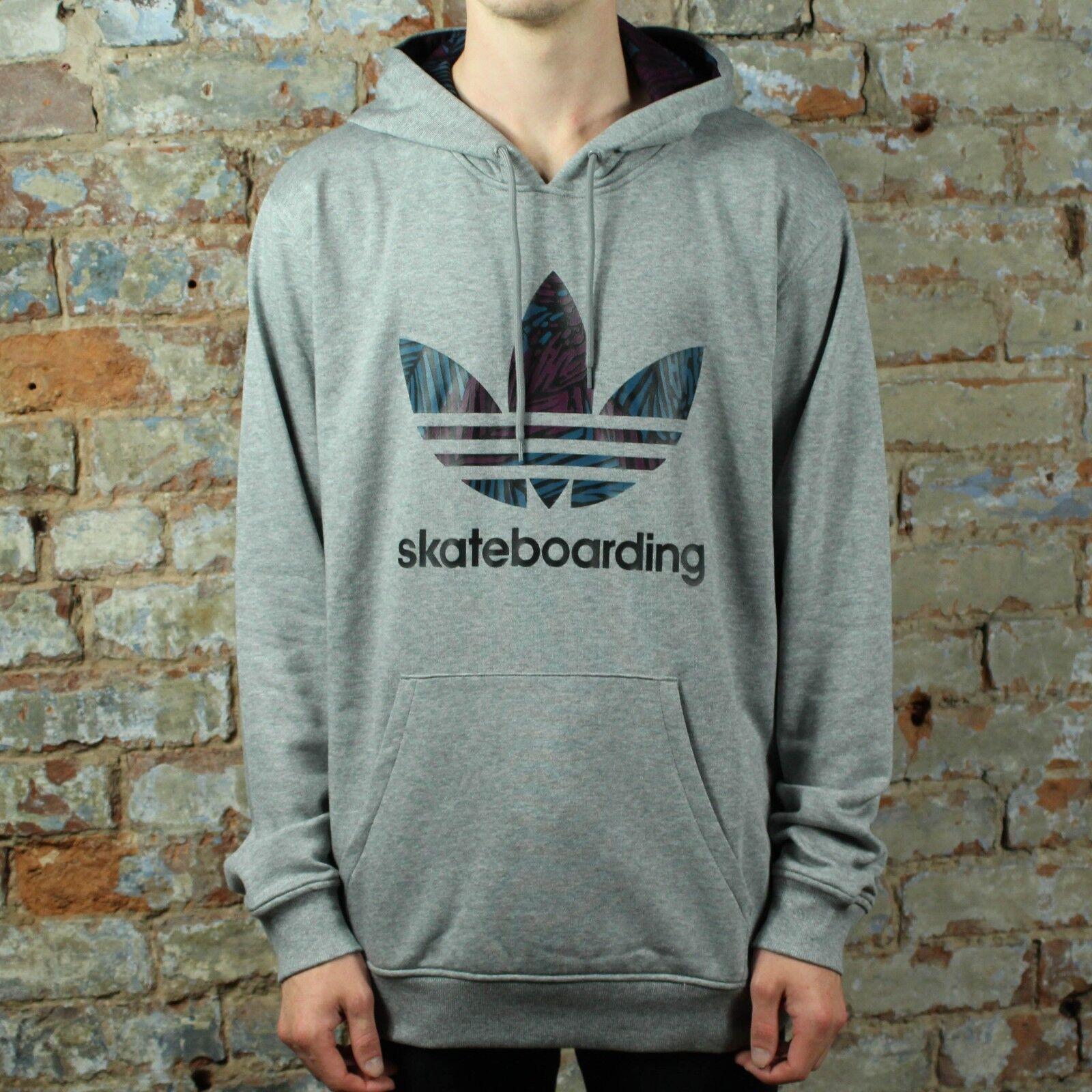 Adidas Clima 3.0 Palm Hoodie hooded Sweatshirt – Heather Grey size S,M