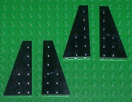 Plate 6 x 3 54384, 54383 BL69 x2 pairs of L /& R BLACK LEGO Wedge