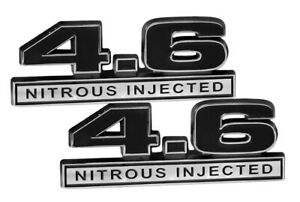 "5/"" Long NOS Nitrous Injected 3D Embossed Emblem Badge Logo in Chrome /& Black"