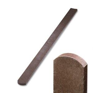Zaun-Zaunlatte-aus-Recycling-Kunststoff-halbrunder-Kopf-braun-0-6m-1-2m-lang