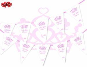 Nuevo-Baby-Shower-Bautizo-nombres-Princesita-dia-Banderas-Banner-Bunting-15