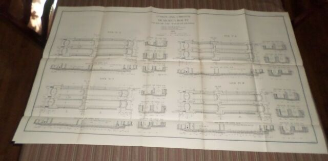 Large Map Plate of Nicaragua Route (1897-1901) Isthmian Canal Comm #66