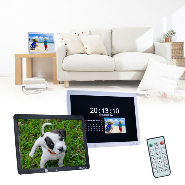 Andoer 15 Inch Large Screen LED Digital Photo Frame Album Wall Mountable S9N2
